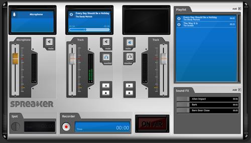 deejay console virtuale spreaker