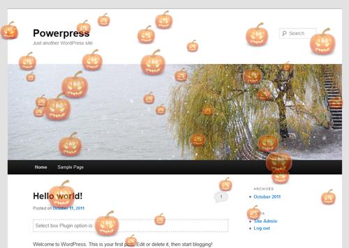 wordpress halloween plugin fancy events