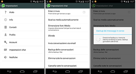 backup whatsapp android
