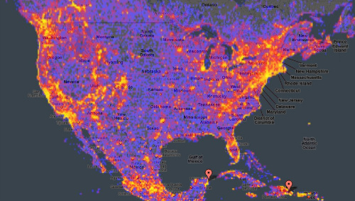 mappa posti più visitati